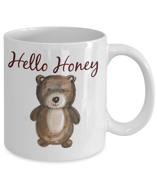 Love Bear Coffee Mug - Hello Honey - 11 oz Gift Mug