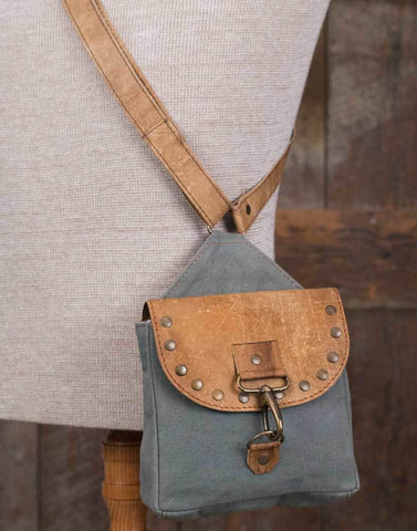 Crossbody City Bag with Rivets