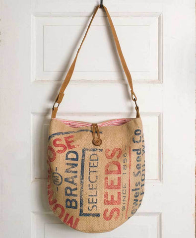Mongoose Seeds Burlap Tote Bag - Rustic