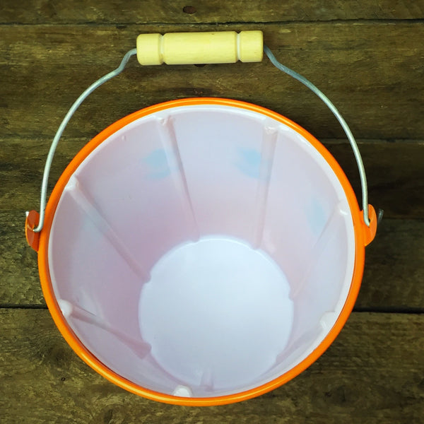 Orange Spring Tin Mini Bucket with Handle