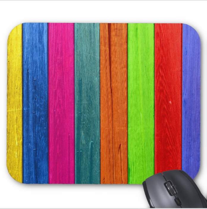 Colorful Patterns Mousepad - Bright Wood Planks - Mouse Pad