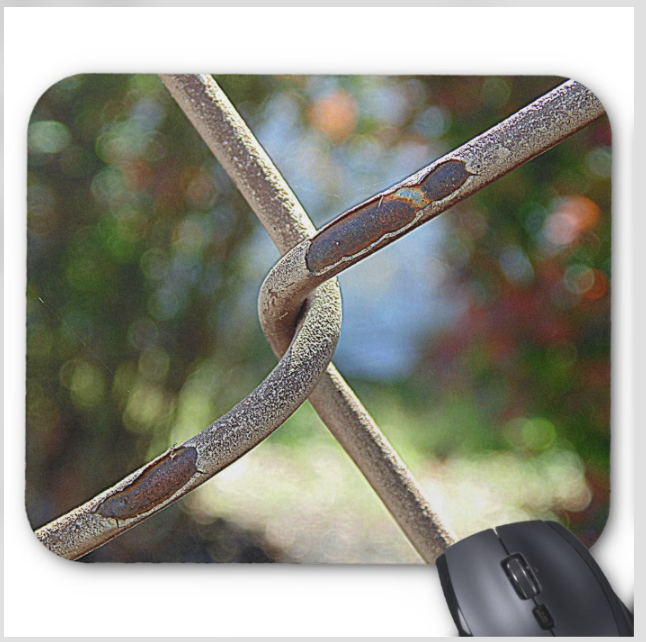 Photo Mouse Pad - Twisted Fence - Mouse Pad
