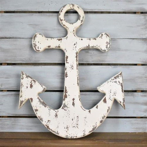 "Distressed Wood Anchor 20"" H"