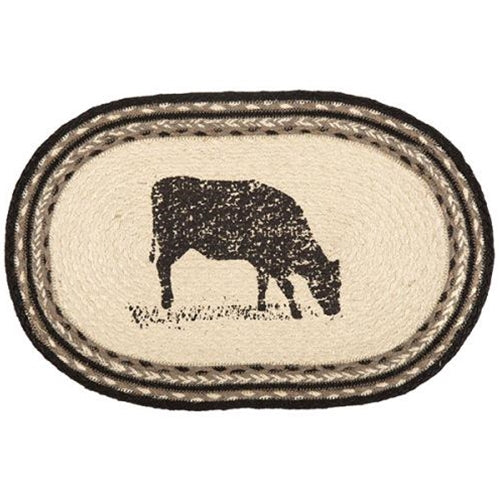 Sawyer Mill Cow Rustic Jute Placemat