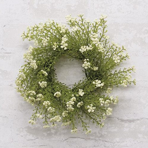 "White Astilbe 10"" Small Faux Wreath"