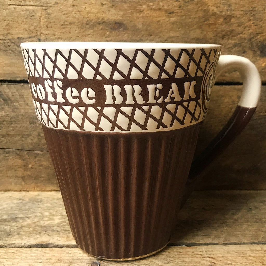 Coffee Break Texted Large Mug