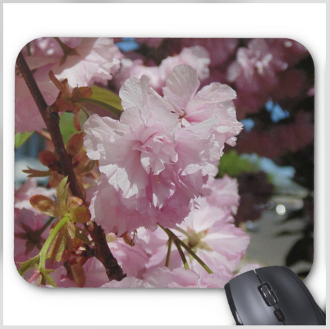 Floral Mouse pad - Pink Spring Blossoms - Mouse Pad