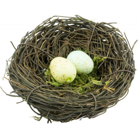 "Natural Angel Vine 4"" Bird Nest With Eggs"