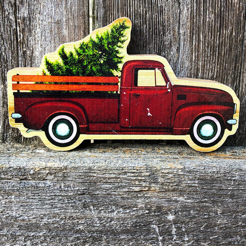 Lil' Fresh Cut Tree & Truck Wood Sitter