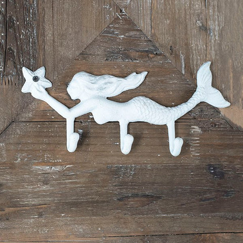 Cast Iron Mermaid Wall Hooks