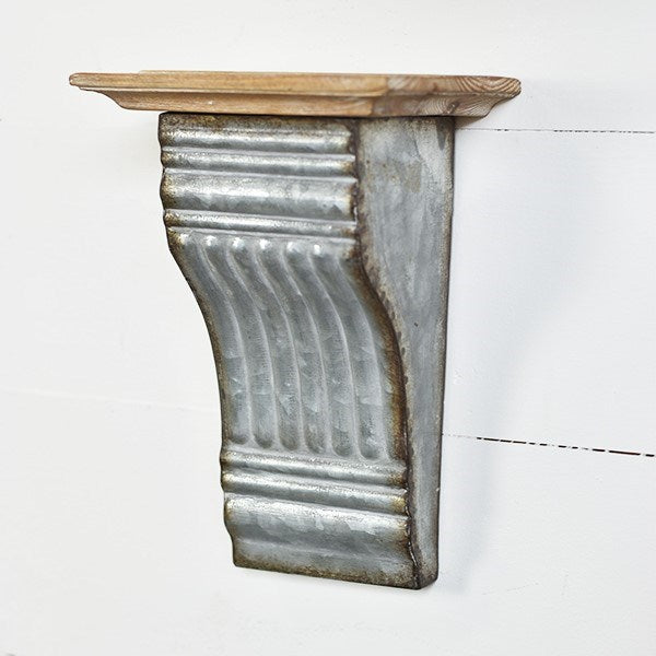Wood and Tin Wall Sconce