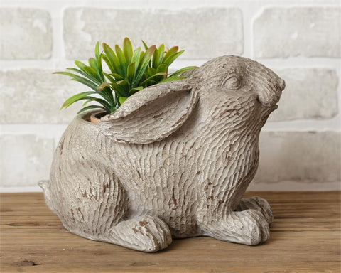 Garden Bunny Textured Planter