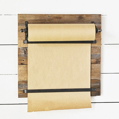 Paper Scroll and Wooden Wall Holder