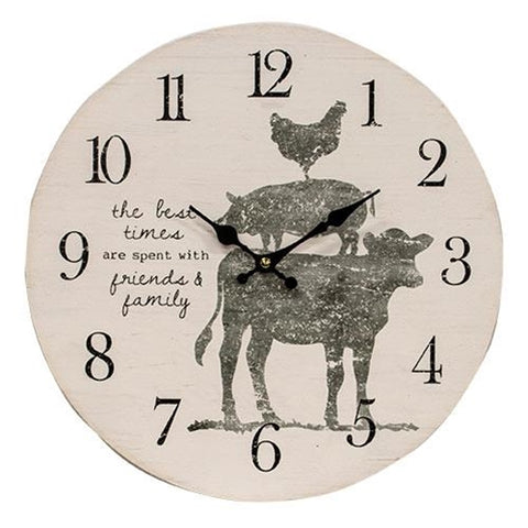 Farm Animals Friends and Family Wall Clock