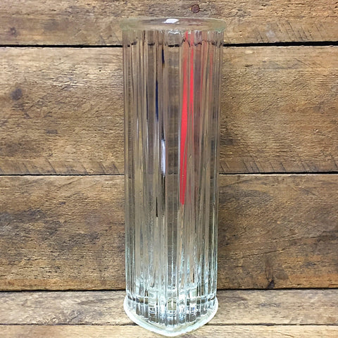 "Heart Shaped Clear Fluted Budvase 7.25"" H"
