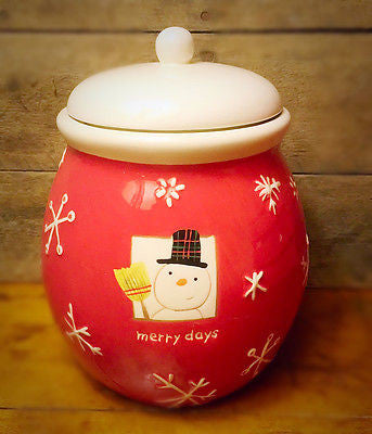 Hallmark Merry Days Snowman Canister with Lid