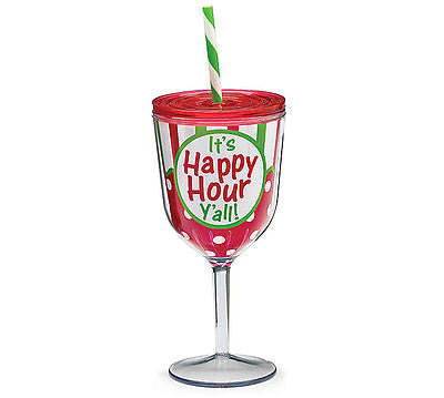 Happy Hour Y'all Holiday Wine Tumbler