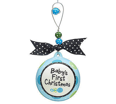Boy Baby's First Christmas Ornament