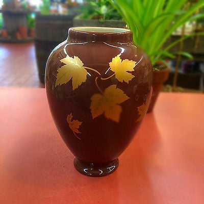 GOLD LEAF FALL URN FLOWER VASE Teleflora collectible vase
