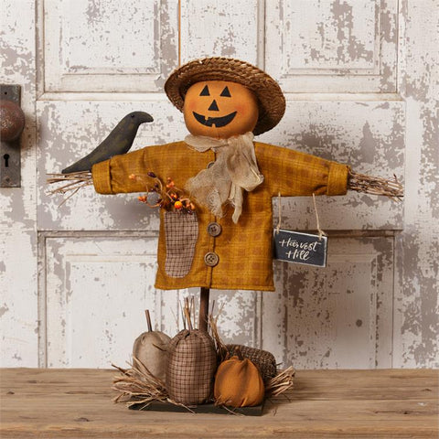 Harvest Hill Plaid Scarecrow Tabletop Decor