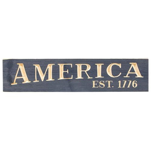 "America, Est. 1776 24"" Olde Navy Engraved Sign"