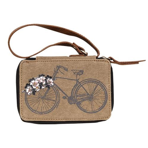 Trust the Journey Floral Bicycle Wallet