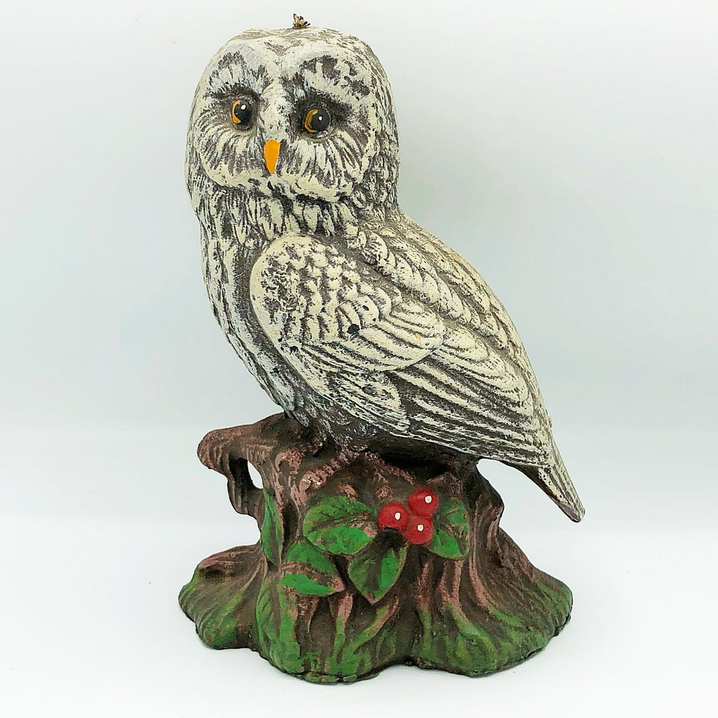 Vintage Owl on Stump Wax Candle