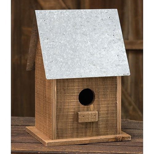 Tall Metal Roof Birdhouse