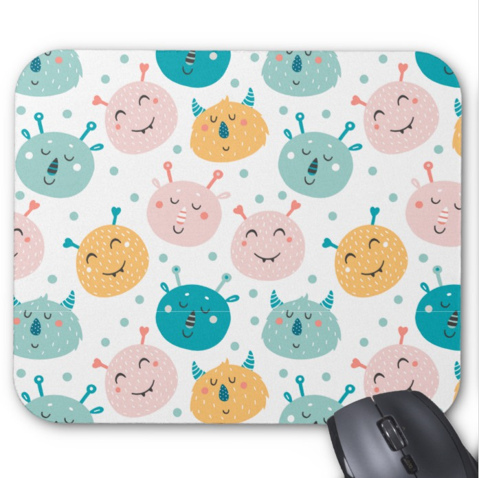 Fun Mousepad - Happy Monsters - Mouse Pad