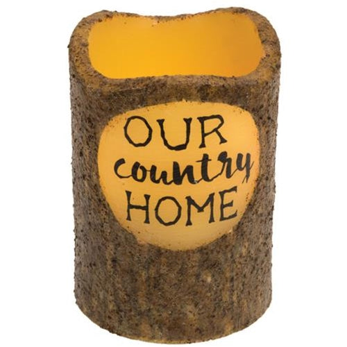 Our Country Home Timer Battery Powered Pillar Candle