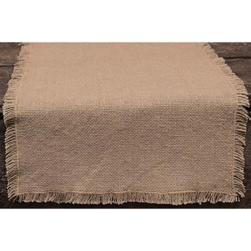 "Rustic Farmhouse 36"" Natural Burlap Table Runner"