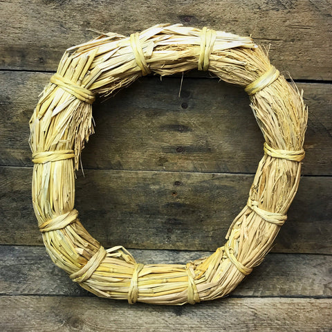 Straw Wreath 8""