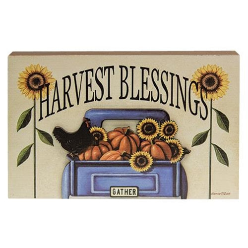 Harvest Blessings Truck Dimensional Box Sign