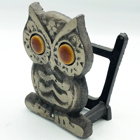 Rustic Cast Iron Owl Napkin Holder