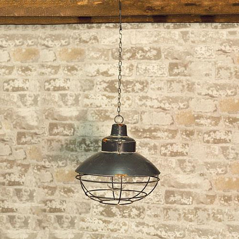 Metal Hanging Antiqued Lantern - Battery Operated