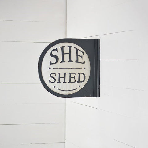 She Shed Round Double Sided Sign