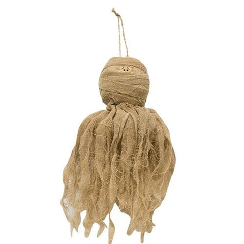 Rustic Mummy Ghost Ornament