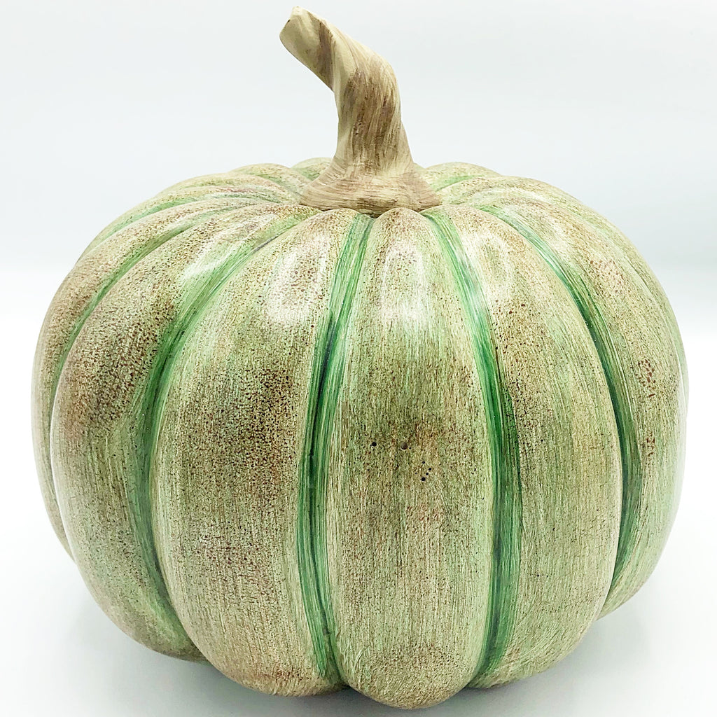 Green Resin Fall Pumpkin
