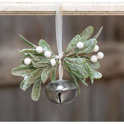 Sparkle Mistletoe Bell Ornament
