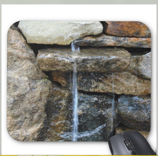 Nature Photo Mousepad - Soothing Rocks - Mouse Pad