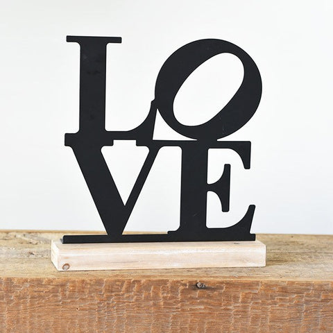 Stacked LOVE Tabletop Tin Sign