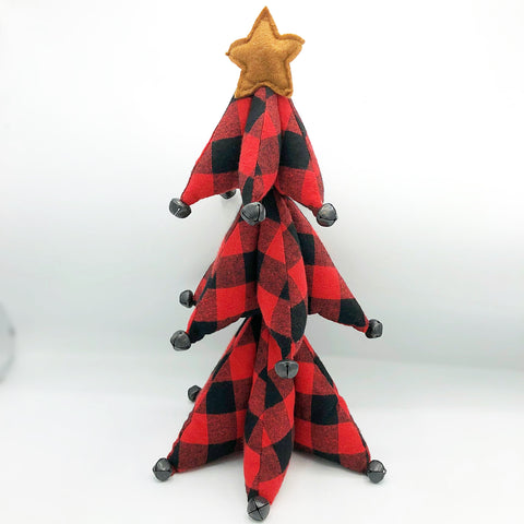 Red Buffalo Plaid Jingle Bell Tree