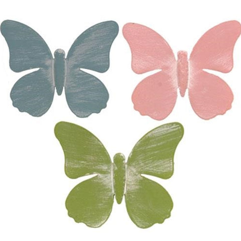 Set of 3 Pastel Butterfly Magnets