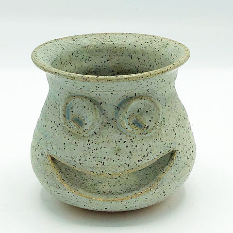 Happy Face Pottery Tealight Candle Holder