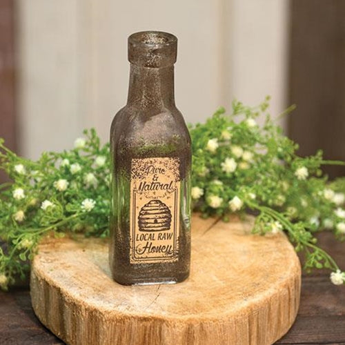 Local Raw Honey Glass Vintage-style Bottle