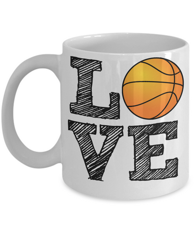 Basketball Fan Mug - Love Baseball - 11 oz Gift Mug