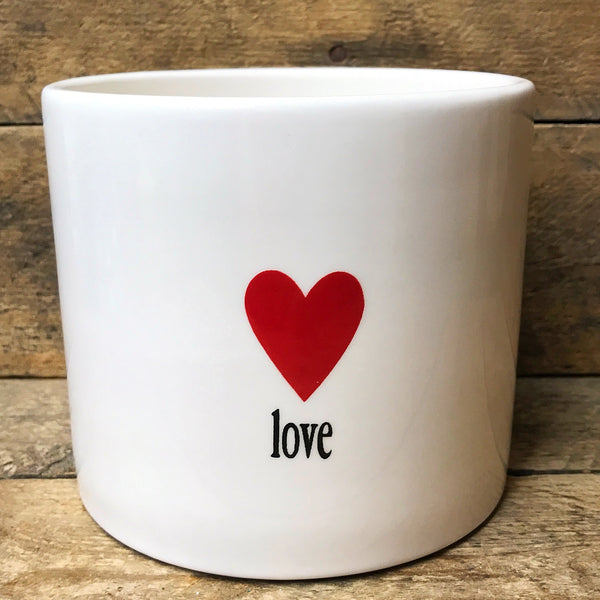 FTD Love with Heart White Planter / Container