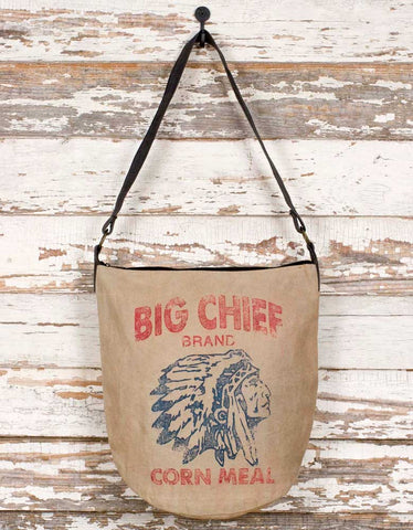 Big Chief Corn Meal Tote Bag - Rustic Style
