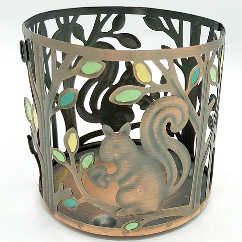 Sonoma Squirrel and Trees Jar Candle Holder