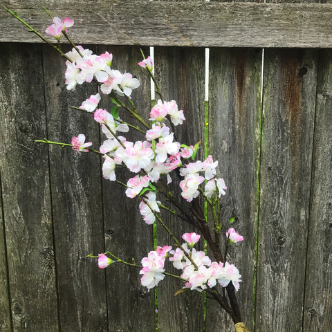 "Peach Blossom 42"" Pink & White Floral Spray"